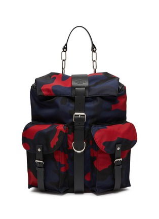 Main View - Click To Enlarge - VALENTINO - Valentino Garavani Camouflage print backpack