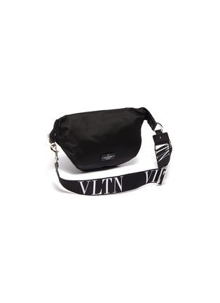 Detail View - Click To Enlarge - VALENTINO - 'VLTN' logo strap bum bag