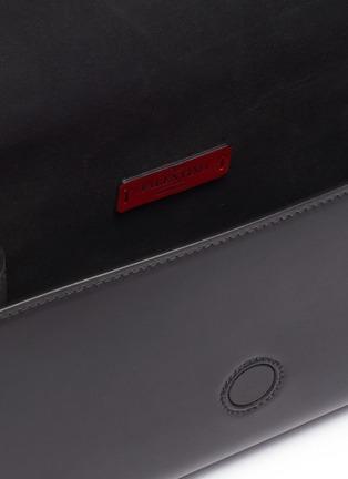 Detail View - Click To Enlarge - VALENTINO - 'VLTN' logo print leather convertible belt bag