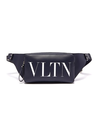 Main View - Click To Enlarge - VALENTINO - Valentino Garavani 'VLTN' logo print leather bum bag