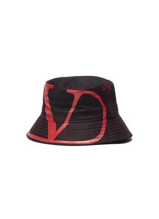 Main View - Click To Enlarge - VALENTINO - Valentino Garavani 'VLOGO' print canvas bucket hat