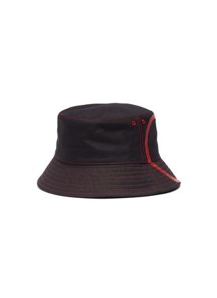 Figure View - Click To Enlarge - VALENTINO - Valentino Garavani 'VLOGO' print canvas bucket hat