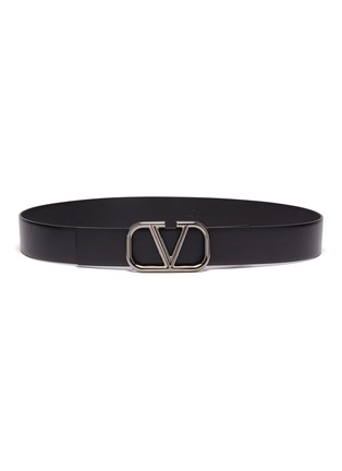 Main View - Click To Enlarge - VALENTINO - 'VLOGO' buckle leather belt