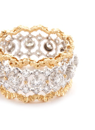 Detail View - Click To Enlarge - BUCCELLATI - 'Rombi Eternelle' diamond gold openwork ring