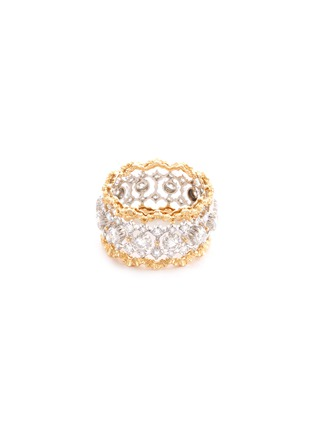 Main View - Click To Enlarge - BUCCELLATI - 'Rombi Eternelle' diamond gold openwork ring