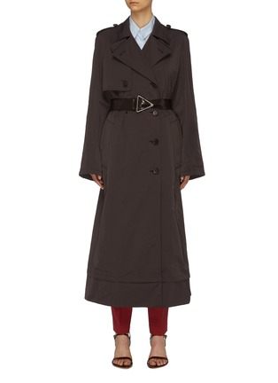 Main View - Click To Enlarge - BOTTEGA VENETA - Contrast belted oversized trench coat
