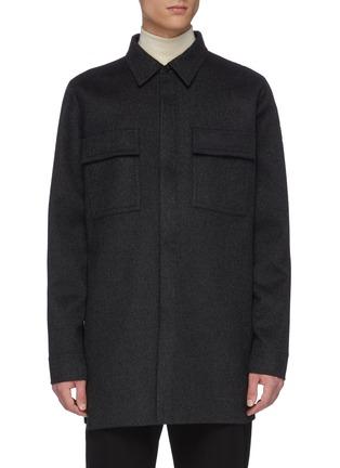 Main View - Click To Enlarge - BOTTEGA VENETA - Chest pocket melton coat