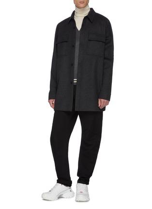 Figure View - Click To Enlarge - BOTTEGA VENETA - Chest pocket melton coat