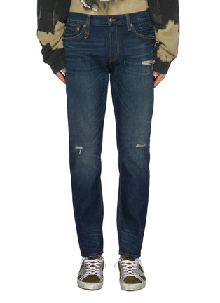 Main View - Click To Enlarge - R13 - 'Brandon' distressed slim fit jeans