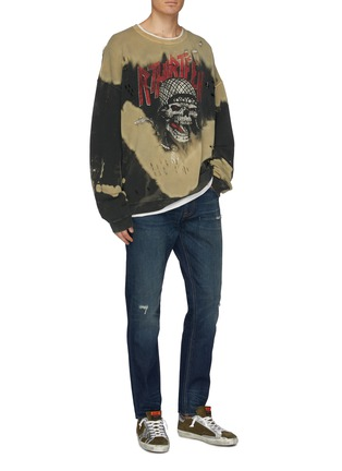 Figure View - Click To Enlarge - R13 - 'Brandon' distressed slim fit jeans