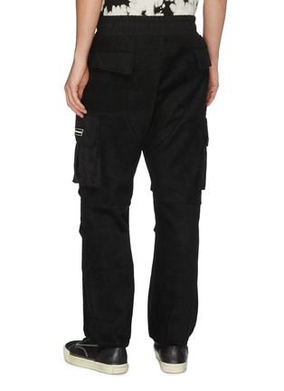 Back View - Click To Enlarge - DANIEL PATRICK - 'M93' drawstring fleece cargo pants
