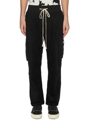 Main View - Click To Enlarge - DANIEL PATRICK - 'M93' drawstring fleece cargo pants