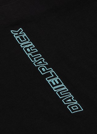 - DANIEL PATRICK - 'Vertical' logo embroidered T-shirt