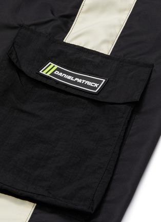 - DANIEL PATRICK - 'Cargo Parachute' zip cuff stripe outseam track pants