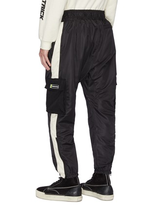 Back View - Click To Enlarge - DANIEL PATRICK - 'Cargo Parachute' zip cuff stripe outseam track pants
