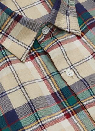 - BARENA - Tartan plaid half placket twill shirt