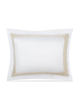 Main View - Click To Enlarge - FRETTE - BICOLORE STANDARD SHAM – WHITE/SAVAGE BEIGE