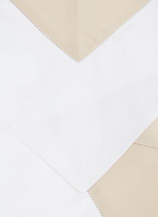 Detail View - Click To Enlarge - FRETTE - Bicolore queen size duvet set – White/Savage Beige