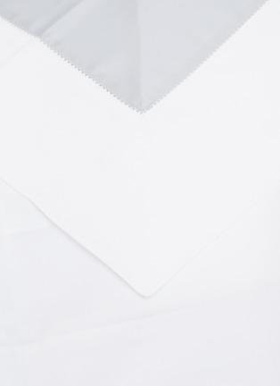Detail View - Click To Enlarge - FRETTE - Bicolore queen size duvet set – White/Light Azure