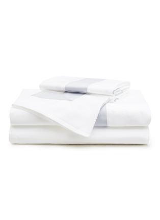 Main View - Click To Enlarge - FRETTE - Bicolore queen size duvet set – White/Light Azure