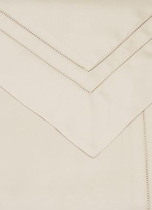 Detail View - Click To Enlarge - FRETTE - Essentials Doppio Ajour King Size Duvet Set – Savage Beige