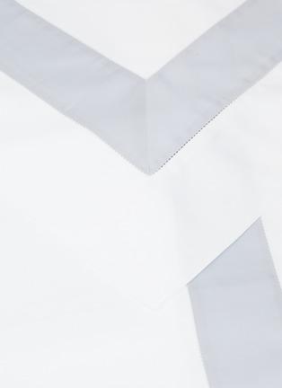 Detail View - Click To Enlarge - FRETTE - Essentials Bicolore King Size Duvet Set – White/Light Azure