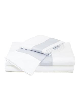Main View - Click To Enlarge - FRETTE - Essentials Bicolore King Size Duvet Set – White/Light Azure