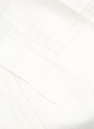 Detail View - Click To Enlarge - FRETTE - Essentials Doppio Ajour King Size Duvet Set – Milk