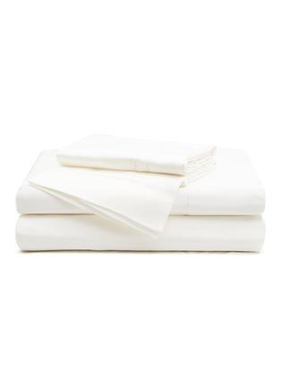 Main View - Click To Enlarge - FRETTE - Essentials Doppio Ajour King Size Duvet Set – Milk
