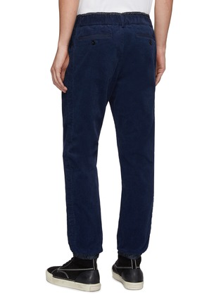 Back View - Click To Enlarge - SACAI - Layered waist corduroy jogging pants