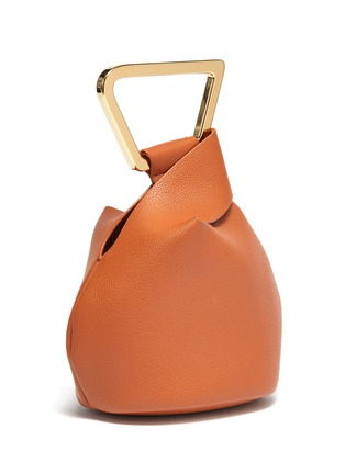 Detail View - Click To Enlarge - CULT GAIA - 'Astraea' mini leather geometric top handle bag