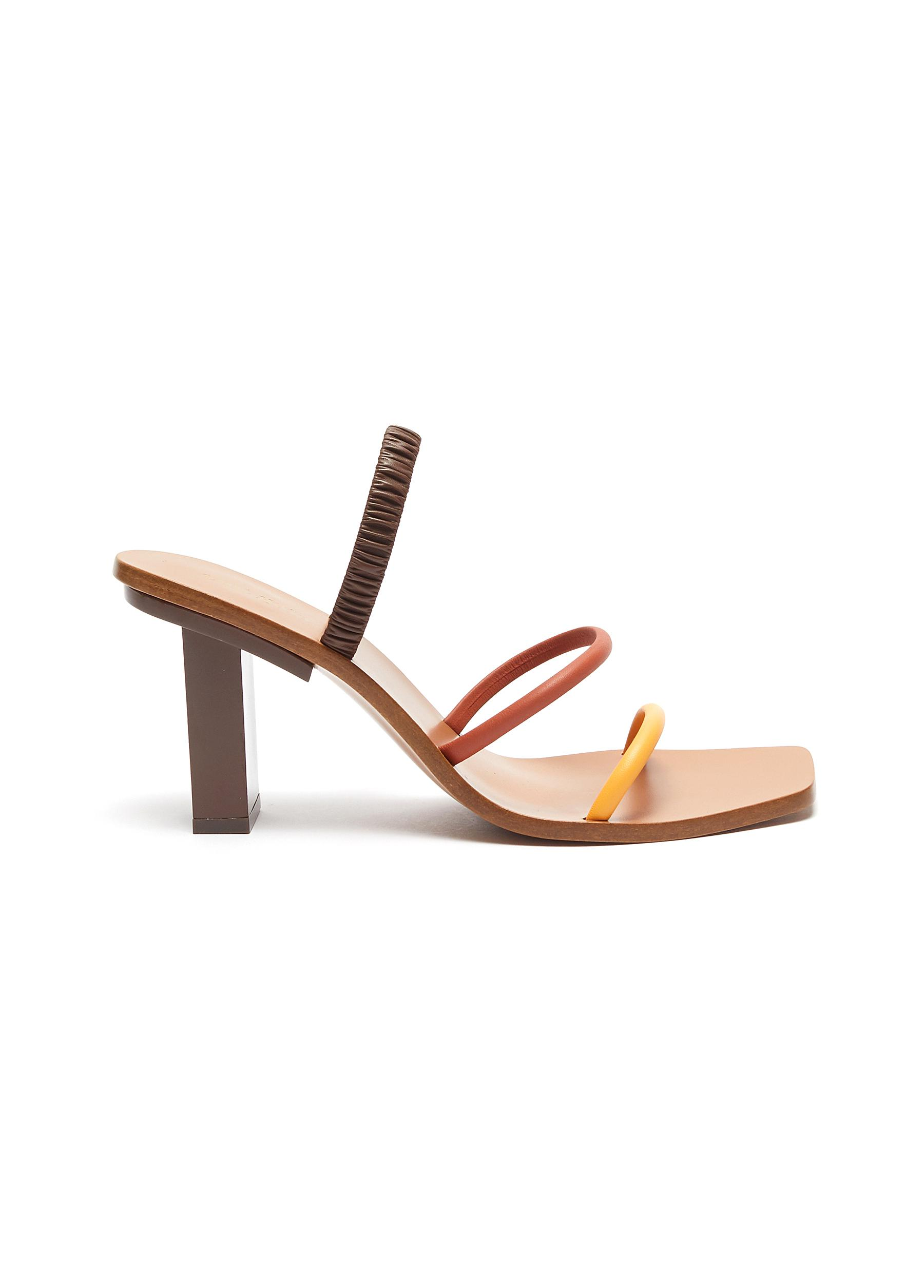Kaia strappy colourblock leather slingback sandals by Cult Gaia