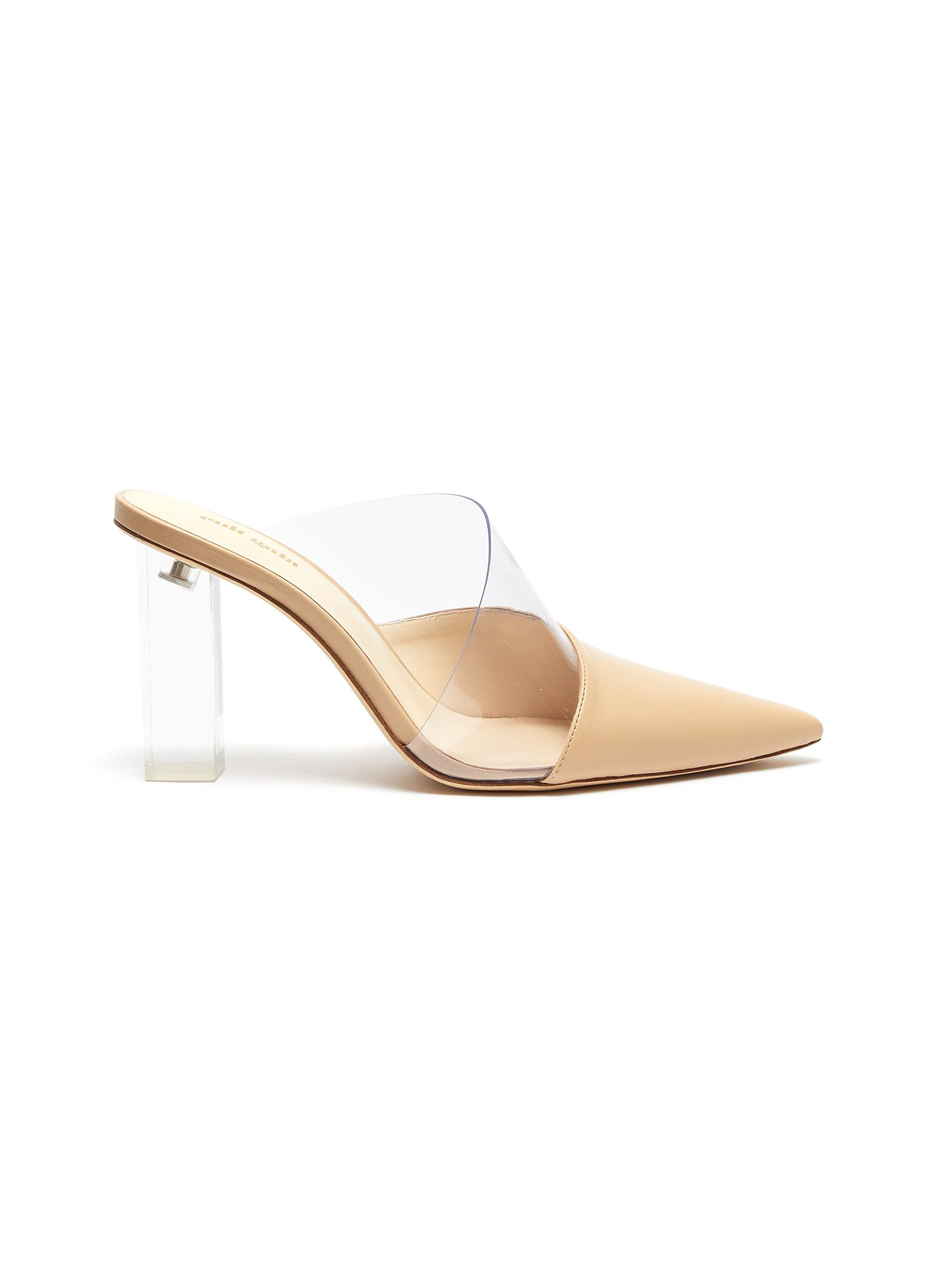 Krystle PVC panel leather mules by Cult Gaia