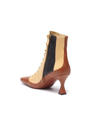 - MANU ATELIER - 'Duck' colourblock patchwork leather lace-up ankle boots