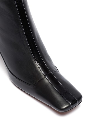 Detail View - Click To Enlarge - MANU ATELIER - 'Duck' patchwork leather ankle boots