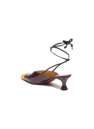- MANU ATELIER - Wraparound ankle tie colourblock leather mules