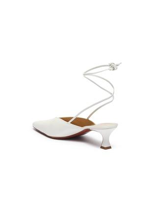 - MANU ATELIER - Wraparound ankle tie leather mules