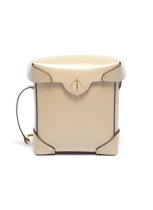 Main View - Click To Enlarge - MANU ATELIER - 'Pristine' mini leather crossbody bag