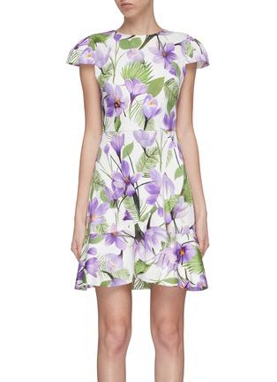 7cc1aec7c6f alice + olivia.  Kirby  ruffle floral print dress