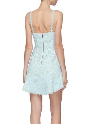Back View - Click To Enlarge - ALICE + OLIVIA - 'Rapunzel' guipure lace sleeveless peplum dress