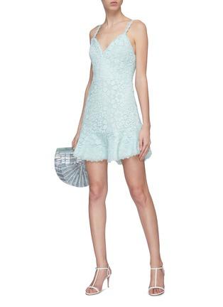Figure View - Click To Enlarge - ALICE + OLIVIA - 'Rapunzel' guipure lace sleeveless peplum dress