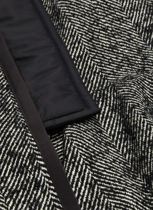 - SACAI - Asymmetric drape herringbone pleated peplum skirt