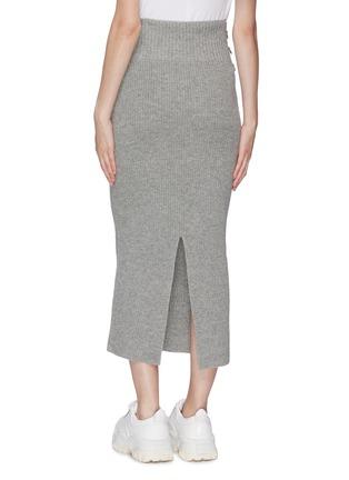 Back View - Click To Enlarge - SACAI - D-ring buckle split back hem knit skirt