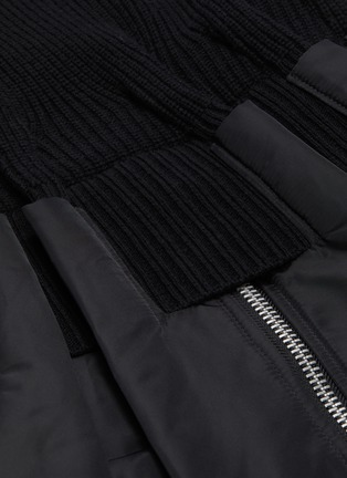 - SACAI - Detachable turtleneck bomber jacket panel sweater