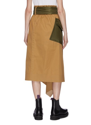 Back View - Click To Enlarge - SACAI - Belted patch pocket asymmetric skirt