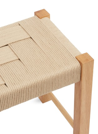 Detail View - Click To Enlarge - JO ELBOURNE - Steps handwoven stool –Sand