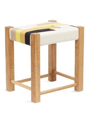 - JO ELBOURNE - Stripes handwoven stool – Raw/Black/Gold/Sand Yellow