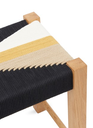 Detail View - Click To Enlarge - JO ELBOURNE - Dart handwoven stool – Raw/Black/Gold/Sand Yellow