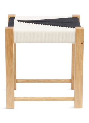 Main View - Click To Enlarge - JO ELBOURNE - Dart handwoven stool – Raw/Black
