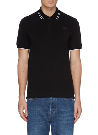 Main View - Click To Enlarge - MCQ ALEXANDER MCQUEEN - Swallow skull appliqué polo shirt